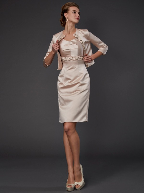 Silkesateng 3/4 ermer Special Occasion Fashion Wrap