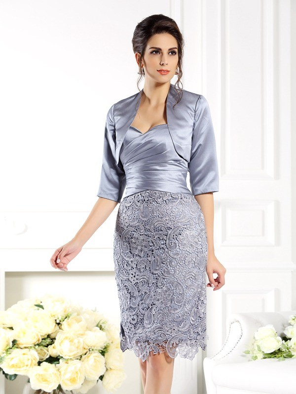 Halvlang Silkesateng Special Occasion Fashion Wrap