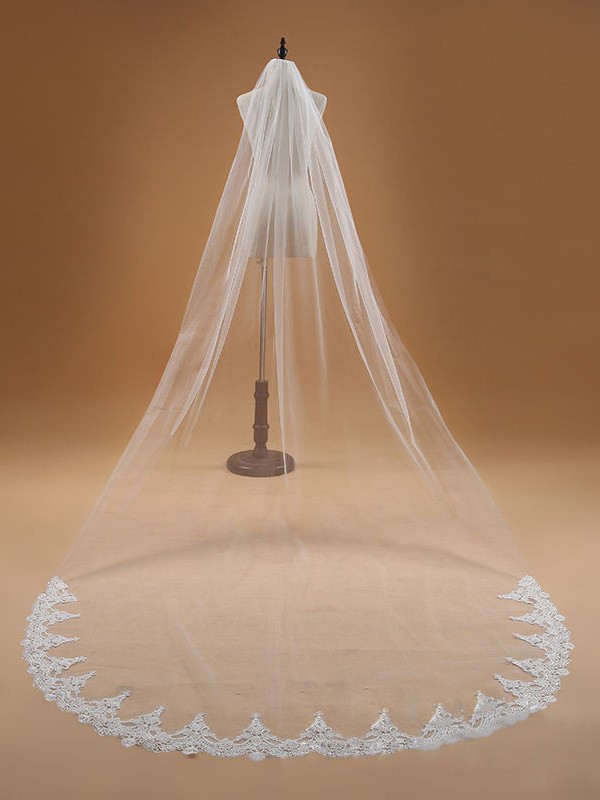 Elegant Tyll With Blonder Wedding Veils