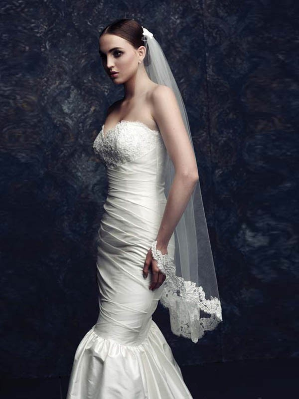Elegant Tyll With Blonder Bridal Veils