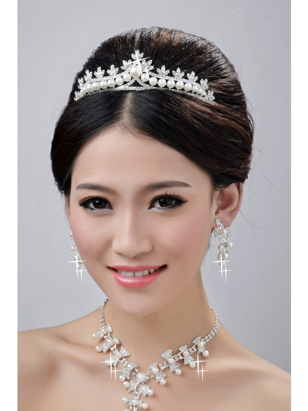 Fashionable Alloy Clear Krystalls Wedding Party Earrings Set