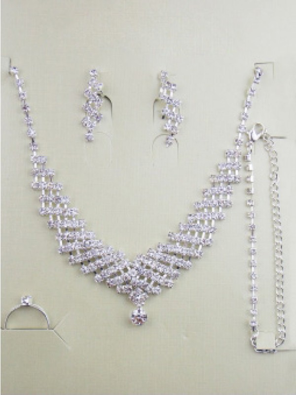 Gorgeous Alloy With Swarovski Wedding Bridal Juvelry Set