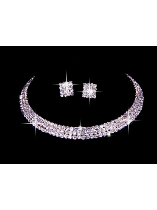 Great Czech Swarovski Wedding Necklaces Earrings Set