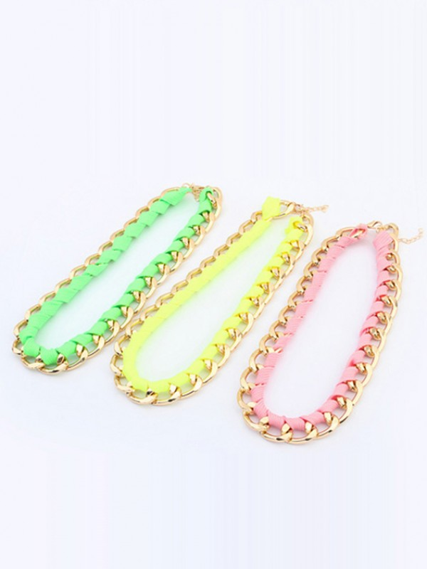Occident Trendy Major suit Fluorescent colors Fashion Necklace
