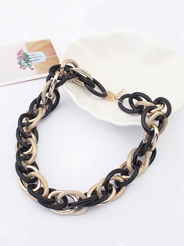 Occident Personality Major suit dull polish Metallic Fashion Necklace