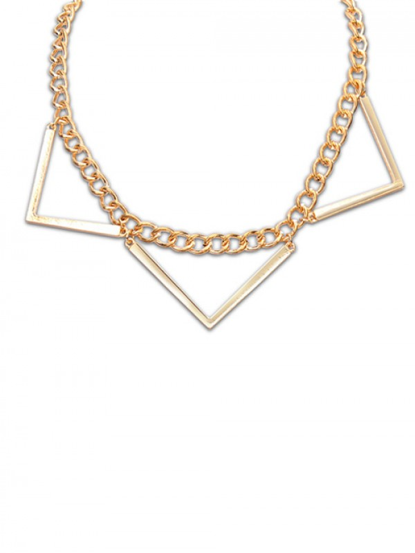 2f176776 Occident Hyperbolic Punk Triangle Geometry Fashion Necklace ...