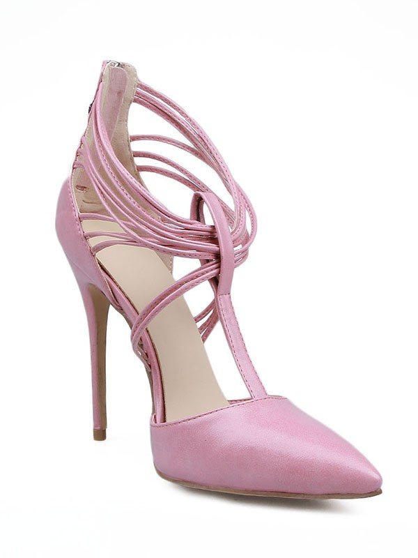 Stiletto Heel Patent Leather Closed Toe With Glidlås High Heels
