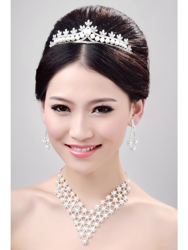 Fashion Alloy Clear Krystalls Wedding Party Earrings Set