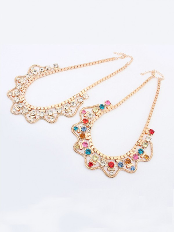 Occident Major suit Stylish Exquisite Swarovski Fashion Necklace