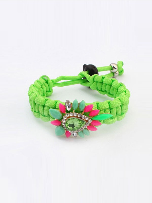 Occident Ethnic Customs Woven Colorful Fashion Bracelets