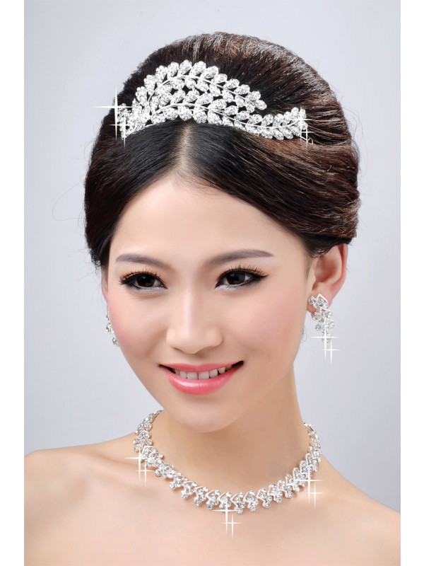 New Style Beautiful Alloy Clear Krystalls Wedding Party Earrings Set