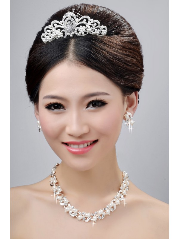 New Style Nice Alloy Clear Krystalls Wedding Party Earrings Set