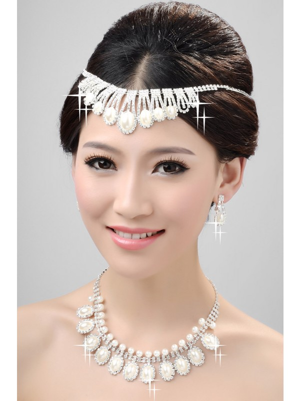 Nice Alloy Clear Krystalls Wedding Party Earrings Set