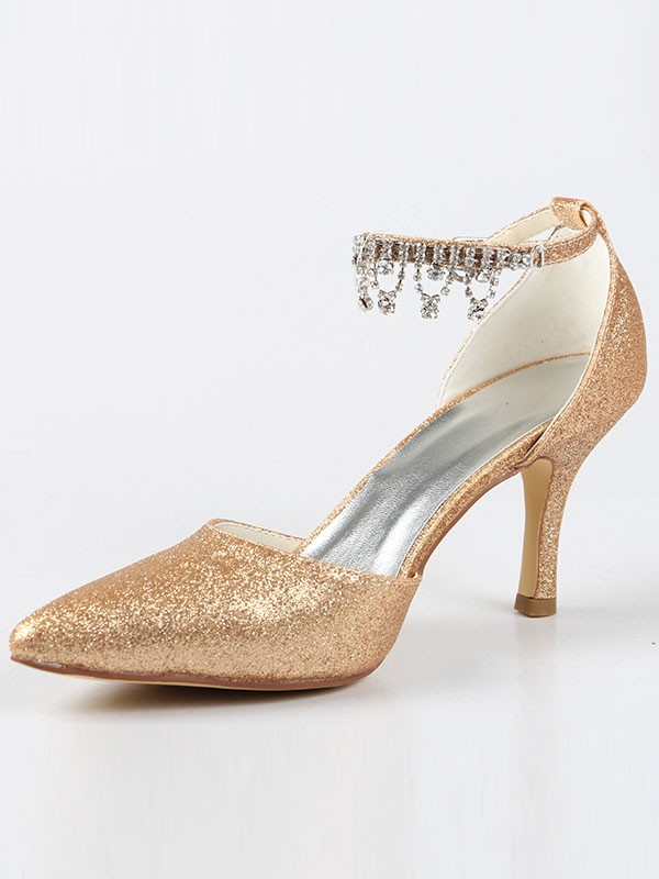 Mary Jane Closed Toe Cone Heel With Swarovski High Heels